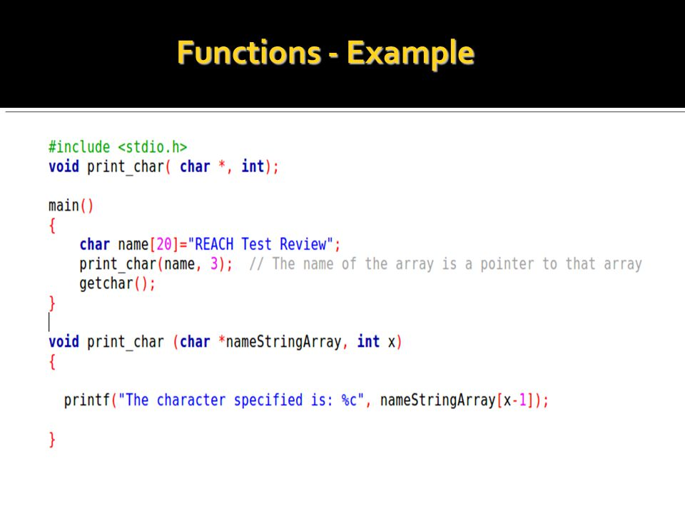 Functions - Example