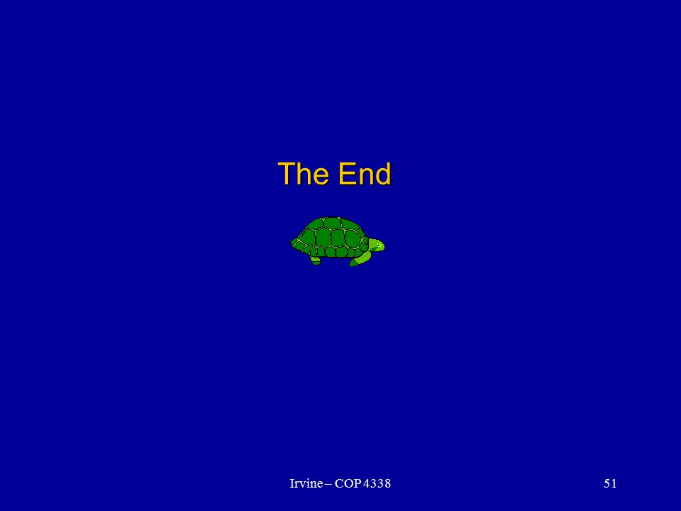 Irvine – COP 433851 The End