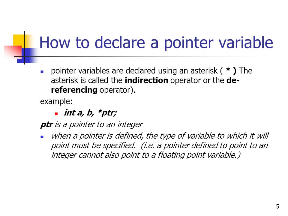 16 Pointer Assignments A pointer can point to only one location at a time, but several pointers can point to the same location.