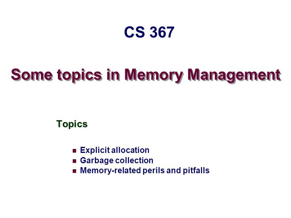 – 12 – CS 367 Internal Fragmentation Poor memory utilization caused by fragmentation.