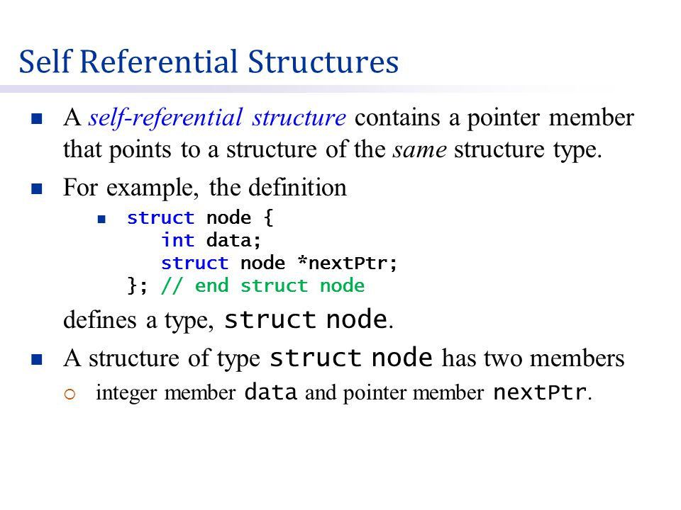 A linked list is a linear collection of self-referential structures  known as nodes, connected by pointer links.