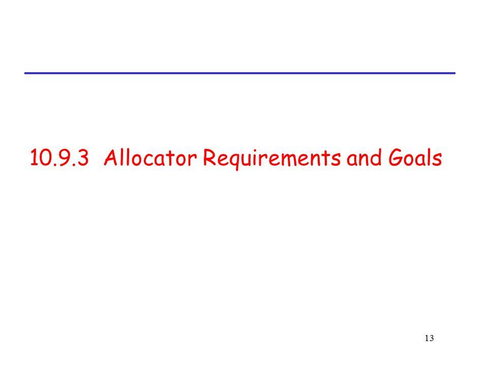 13 10.9.3 Allocator Requirements and Goals