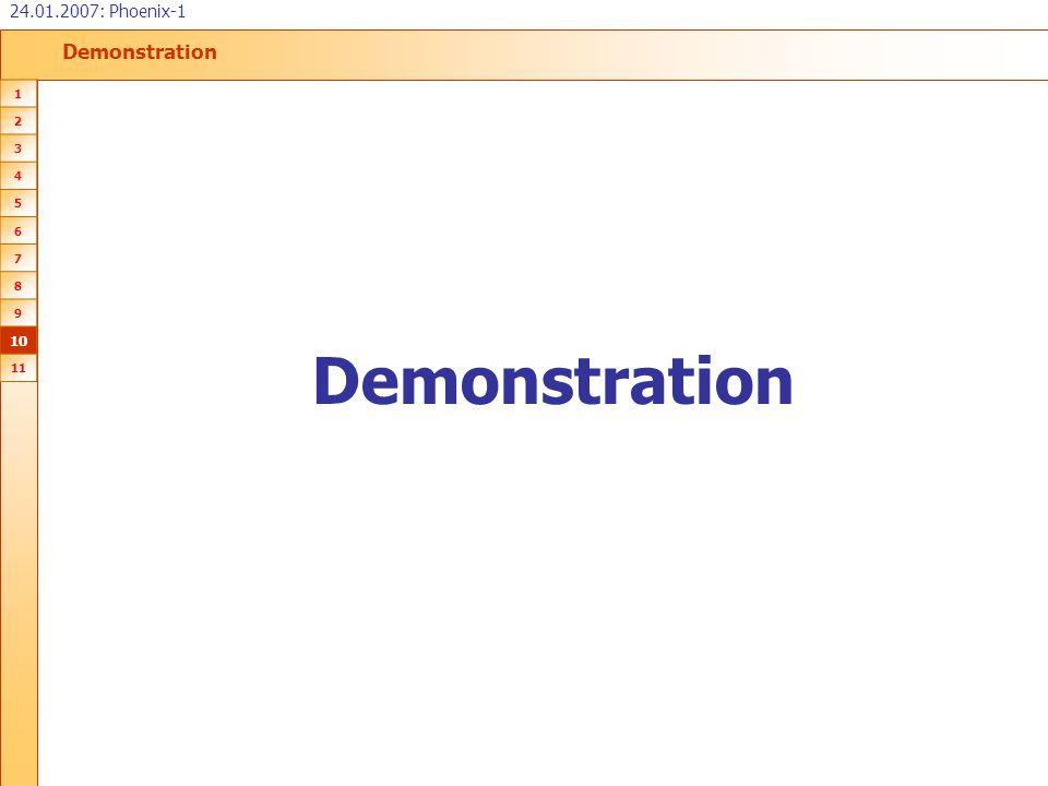 Demonstration 24.01.2007: Phoenix-1 1 2 3 4 5 6 7 8 9 10 11 Demonstration