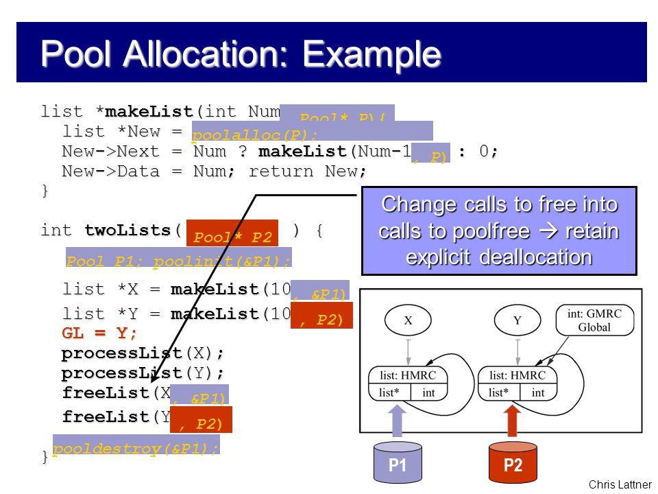 Chris Lattner list *makeList(int Num) { list *New = malloc(sizeof(list)); list *New = malloc(sizeof(list)); New->Next = Num .