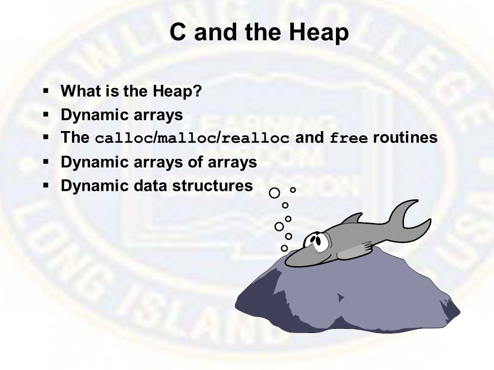 C and the Heap  What is the Heap.