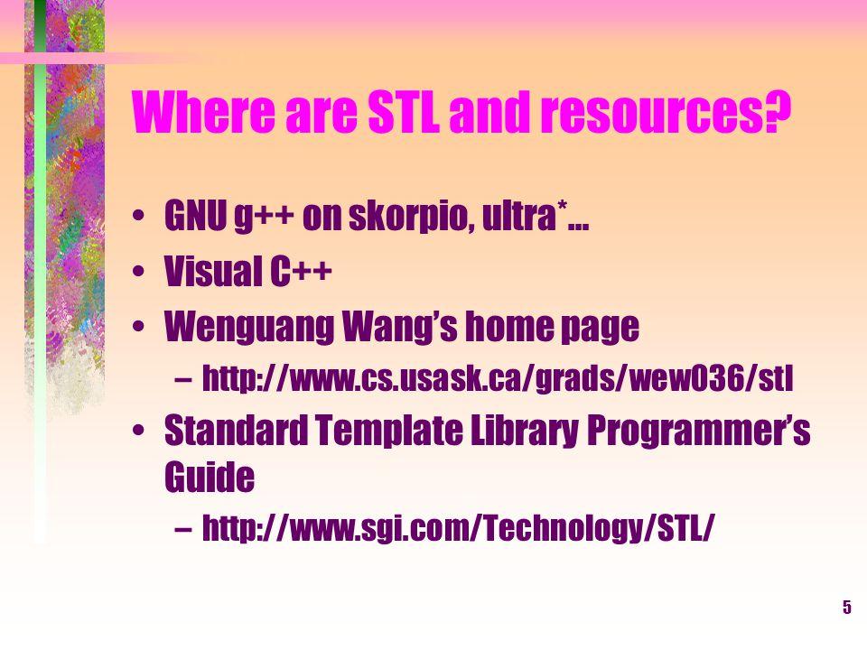 6 Fundamental Elements in STL.