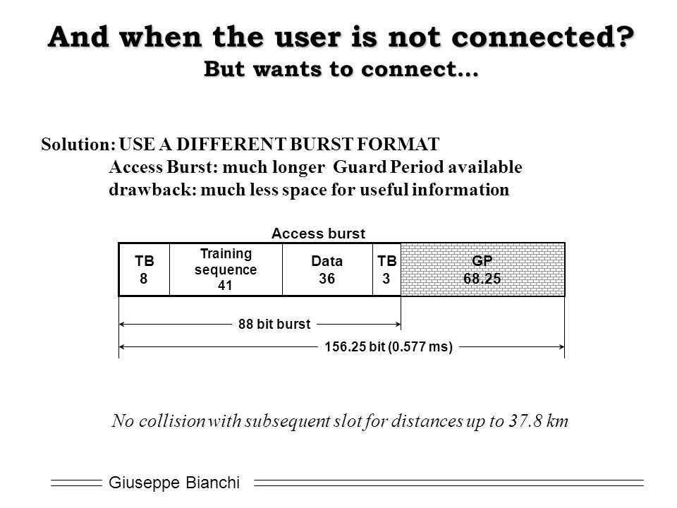Giuseppe Bianchi And when the user is not connected.