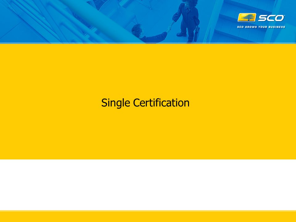 Single Certification