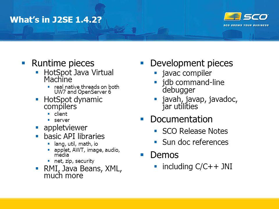 What's in J2SE 1.4.2.