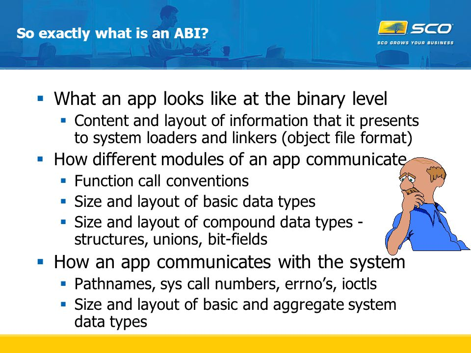 So exactly what is an ABI.