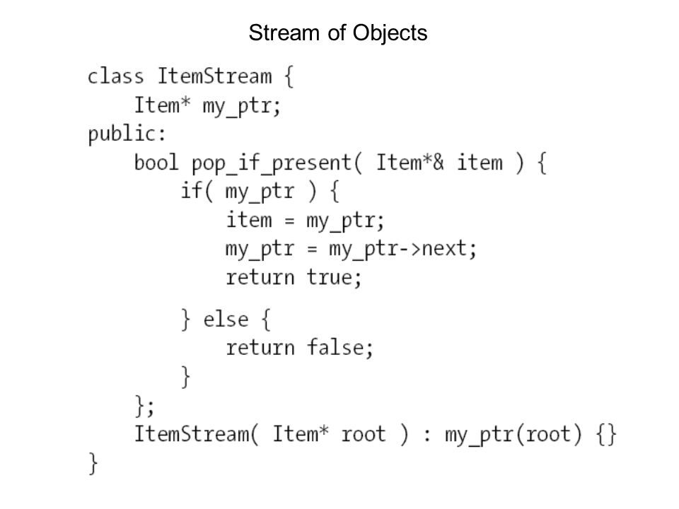 Stream of Objects