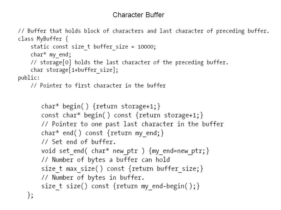 Character Buffer