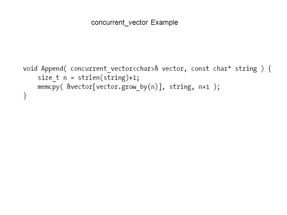 concurrent_vector Example