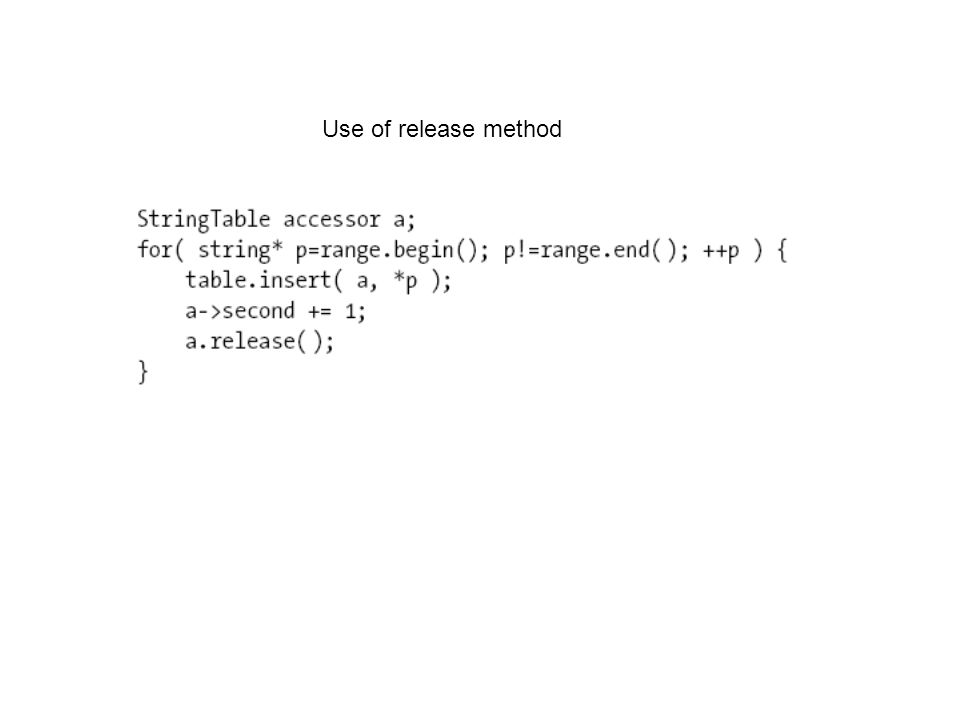 Use of release method