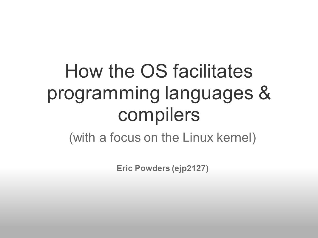 Motivation / Background I worked for many years doing Application Development Came to Columbia to obtain background in Systems Programming & learn how things work at low-level: –Linux env/kernel (backgrd: Windows; non-hacking) –Compilers –Architecture –Networking 2