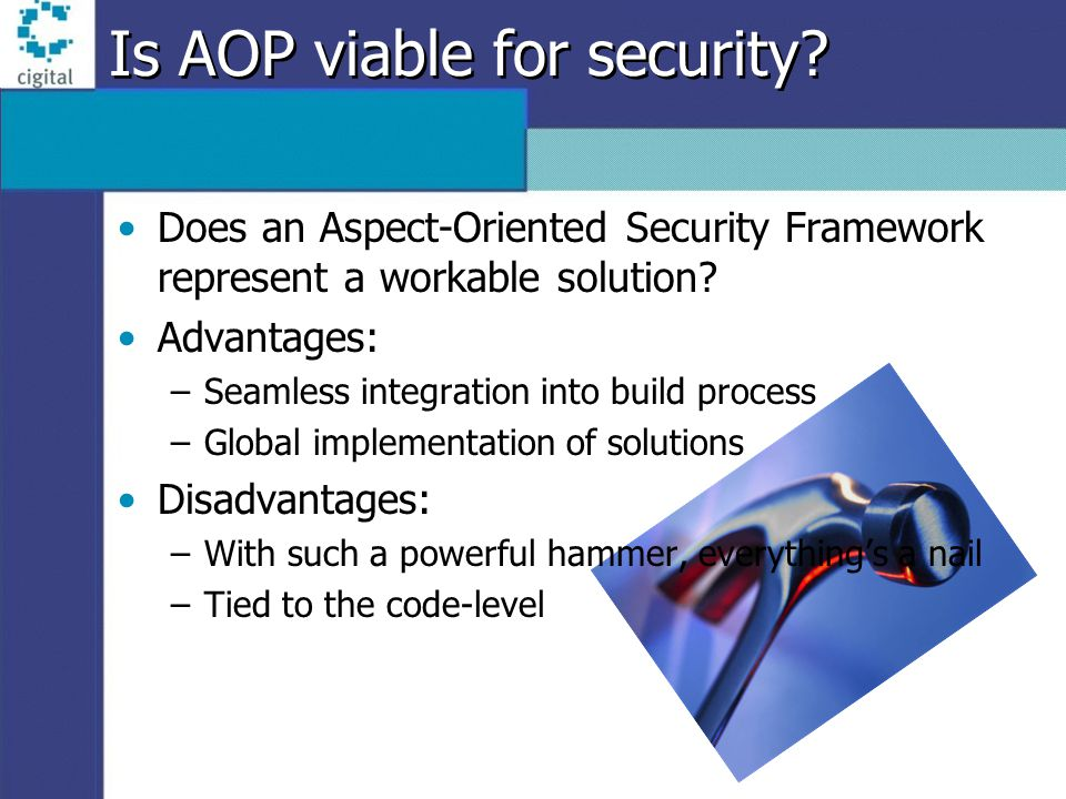 Is AOP viable for security.
