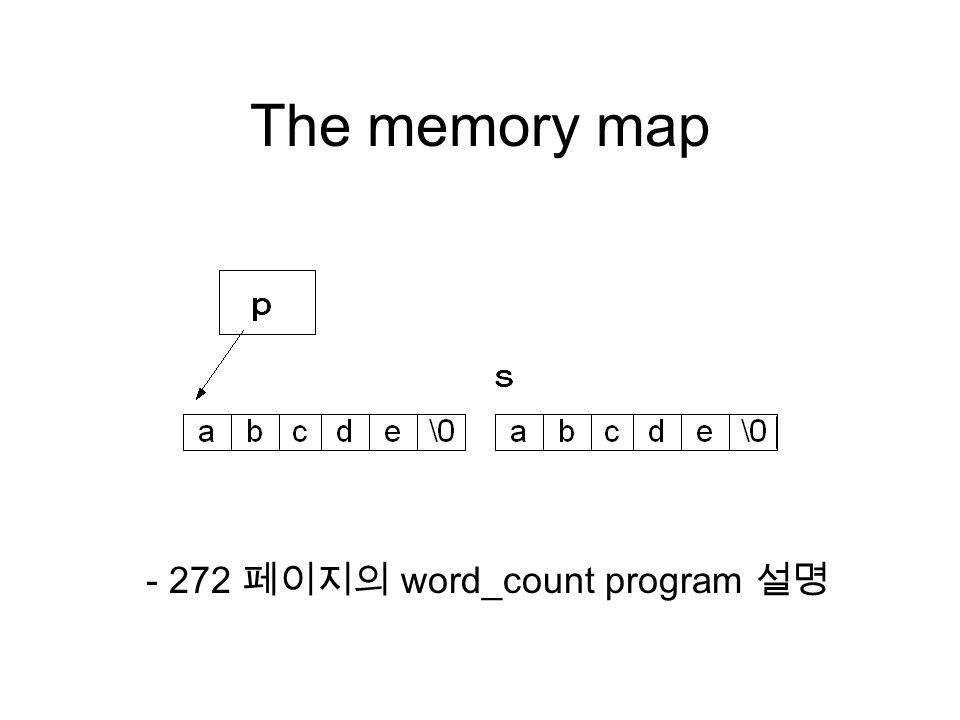 The memory map - 272 페이지의 word_count program 설명