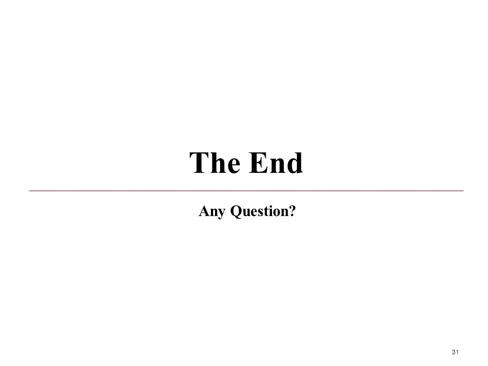 The End Any Question 31