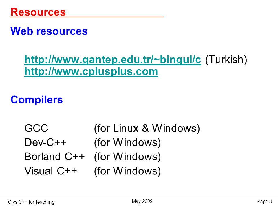 C vs C++ for Teaching May 2009 Page 54 Linked Lists #include class Node{ public: int data; Node *next; }; main(){ int n=0,num; Node *q, *p = NULL; cout << Input a list of numbers <<endl; while(1){ cin >> num; if(num<0) break; n++; q = new Node; q->data = num; q->next = p; p = q; } q = p; cout << Reverse order list: ; while(1){ if(q==NULL) break; cout data << , ; q = q->next; } PROGRAM Linked_List TYPE Node INTEGER :: Data TYPE (Node), POINTER :: Next END TYPE Node INTEGER :: Num, N=0 TYPE (Node), POINTER :: P, Q NULLIFY(P) PRINT *, Input a list of numbers: DO READ *, Num IF ( Num < 0 ) EXIT N=N+1 ALLOCATE(Q) Q%Data = Num Q%Next => P P => Q END DO Q => P PRINT *, Reversee order list: DO IF (.NOT.ASSOCIATED(Q) ) EXIT PRINT *, Q%Data Q => Q%Next END DO END PROGRAM