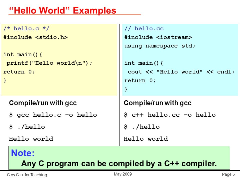 C vs C++ for Teaching May 2009 Page 26 Pointers and References Reference * The reference is an alias, a synonym for a variable.