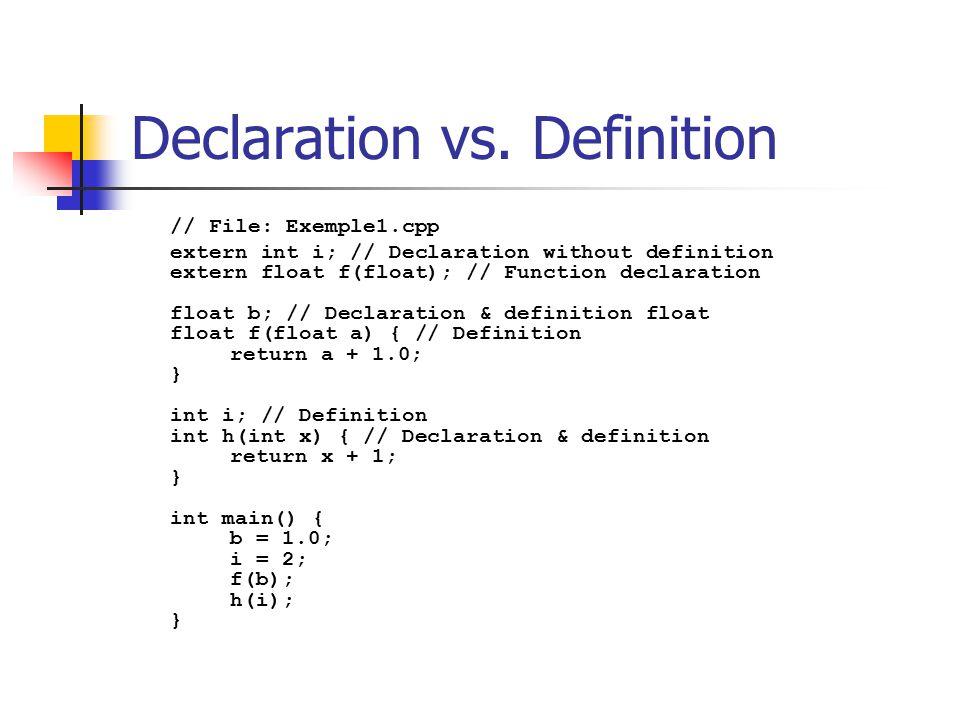 Declaration vs.