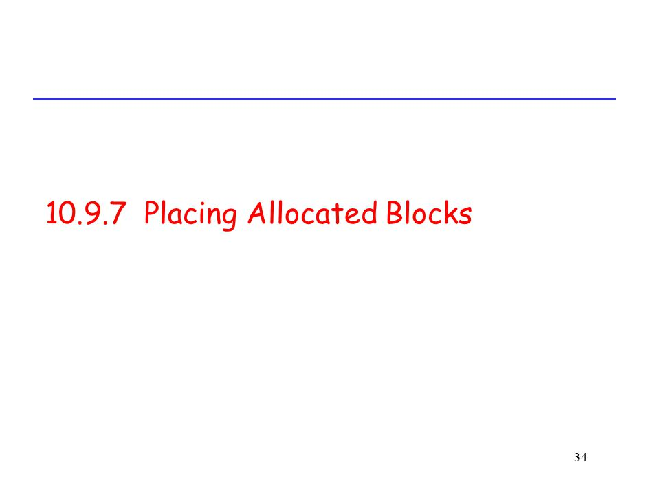 34 10.9.7 Placing Allocated Blocks