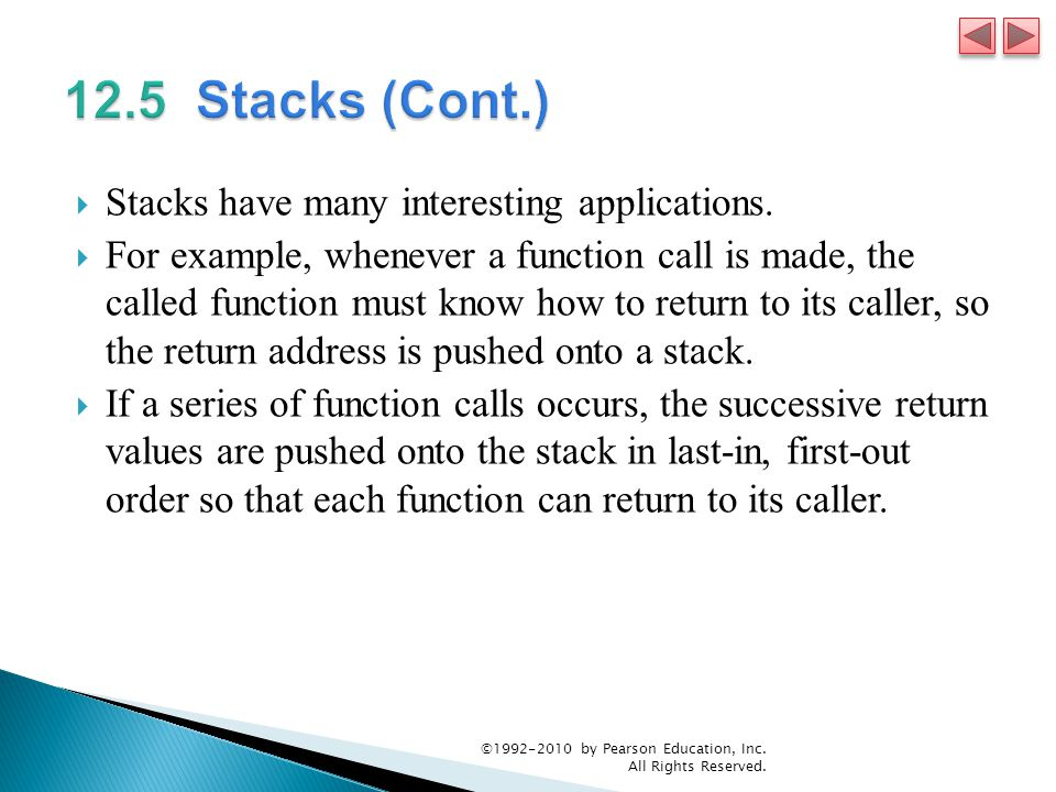  Stacks have many interesting applications.
