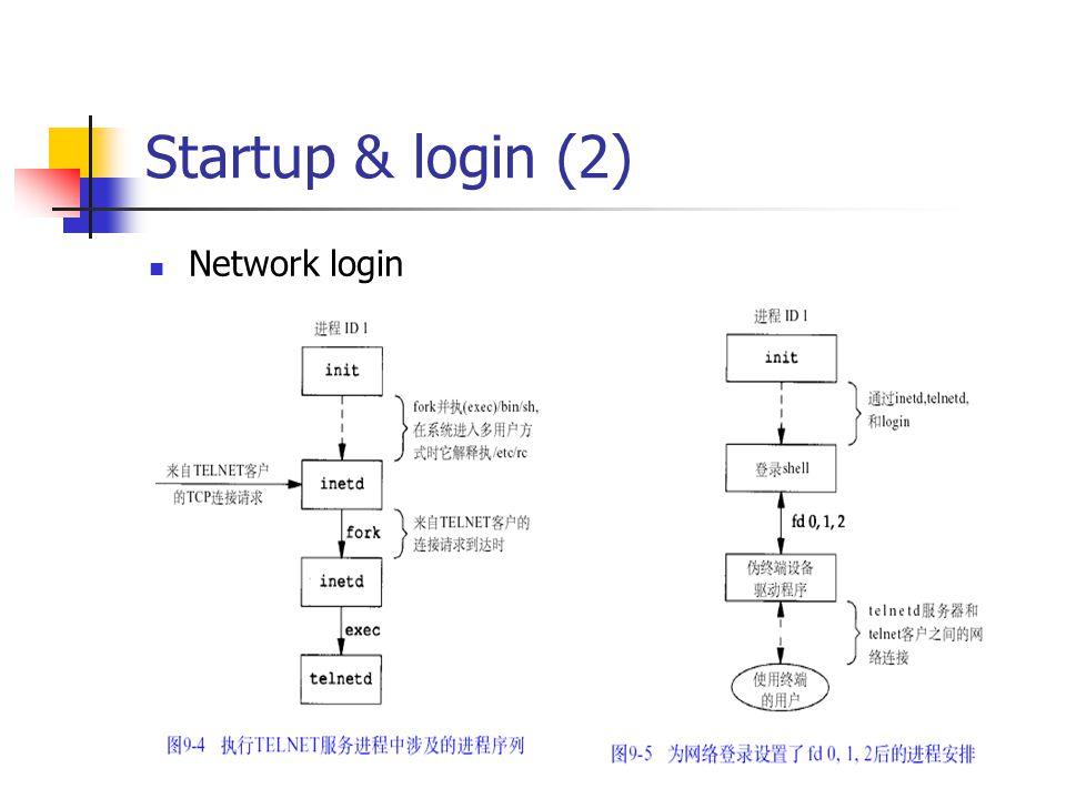 Startup & login (2) Network login