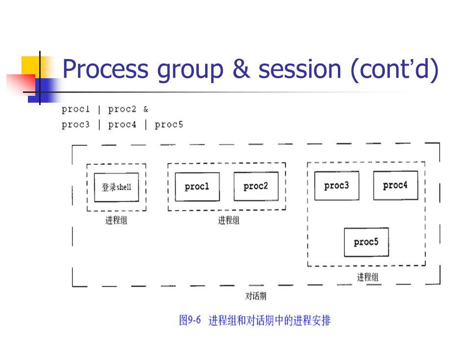 Process group & session (cont ' d)