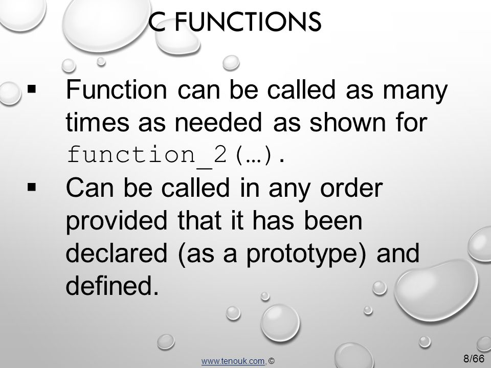  Function can be called as many times as needed as shown for function_2(…).