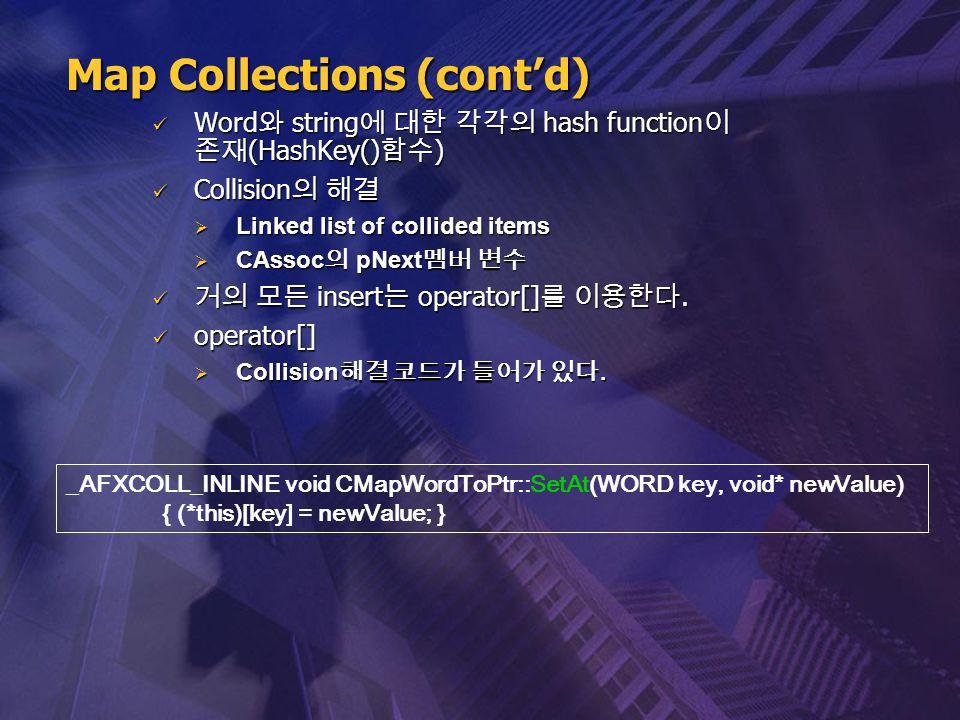 Word 와 string 에 대한 각각의 hash function 이 존재 (HashKey() 함수 ) Word 와 string 에 대한 각각의 hash function 이 존재 (HashKey() 함수 ) Collision 의 해결 Collision 의 해결  Li