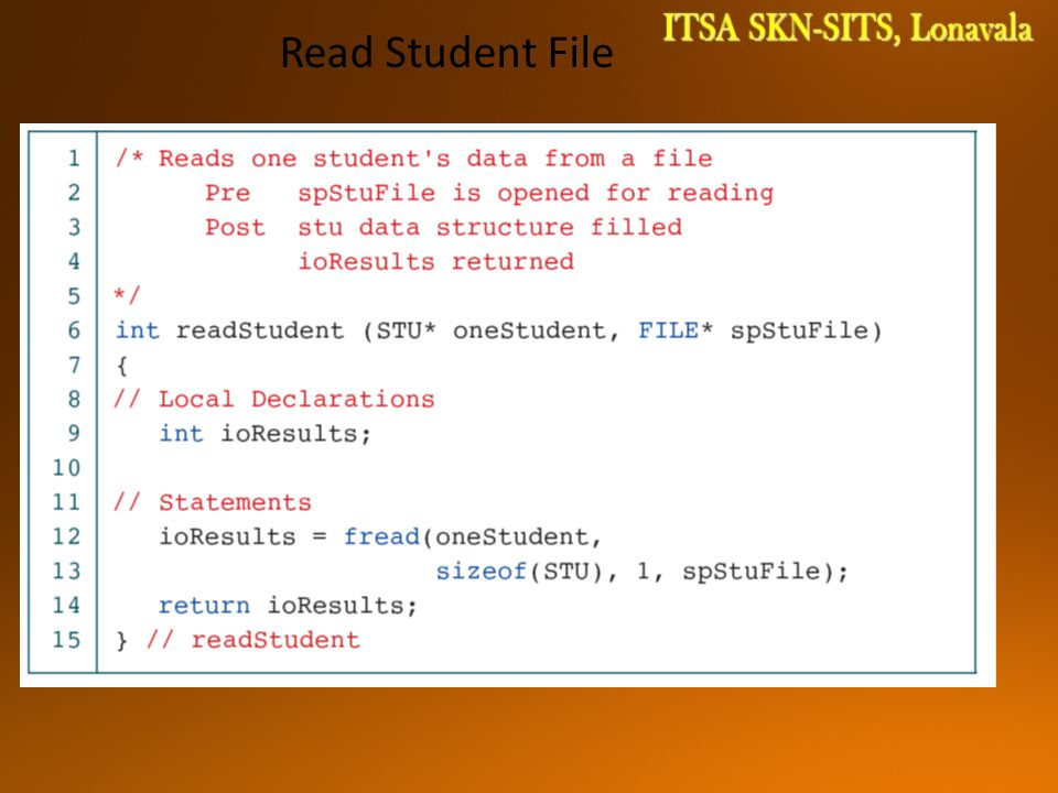 Read Student File