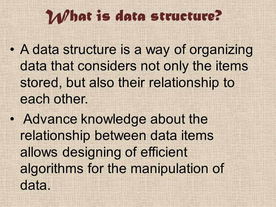 What is data structure.