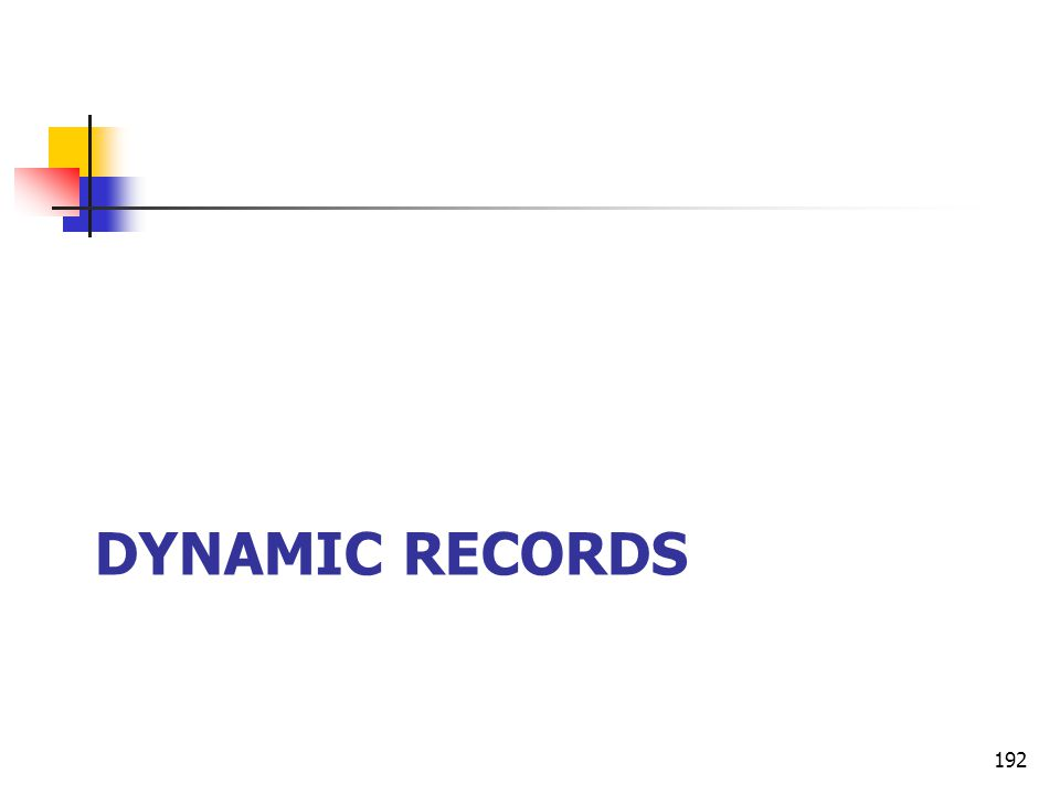 DYNAMIC RECORDS 192