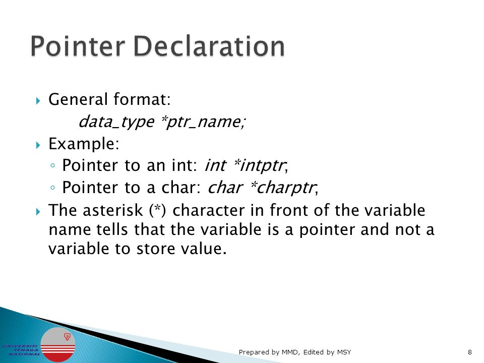  To prevent the pointer from pointing to a random memory address, it is advisable that the pointer is initialized to 0 or NULL before being used.