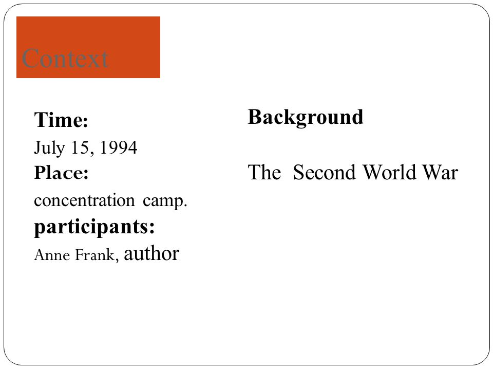Time : July 15, 1994 Place: concentration camp.