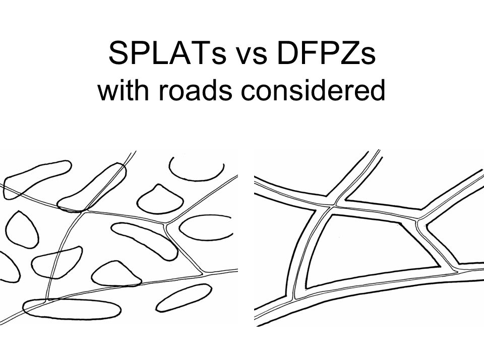 SPLATs vs DFPZs with roads considered