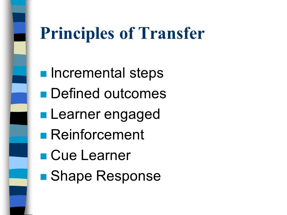 Barriers To Transfer n Executive Barriers n Trainer Barriers n Trainee Barriers
