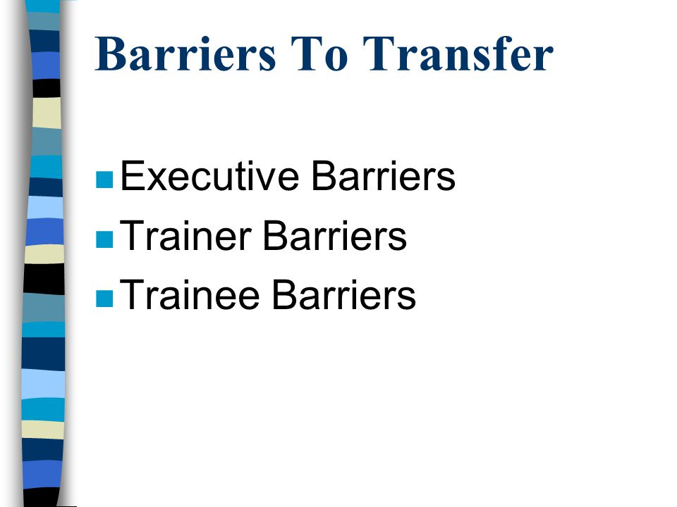 Executive Barriers 1.Lack of Involvement = 71% 2.