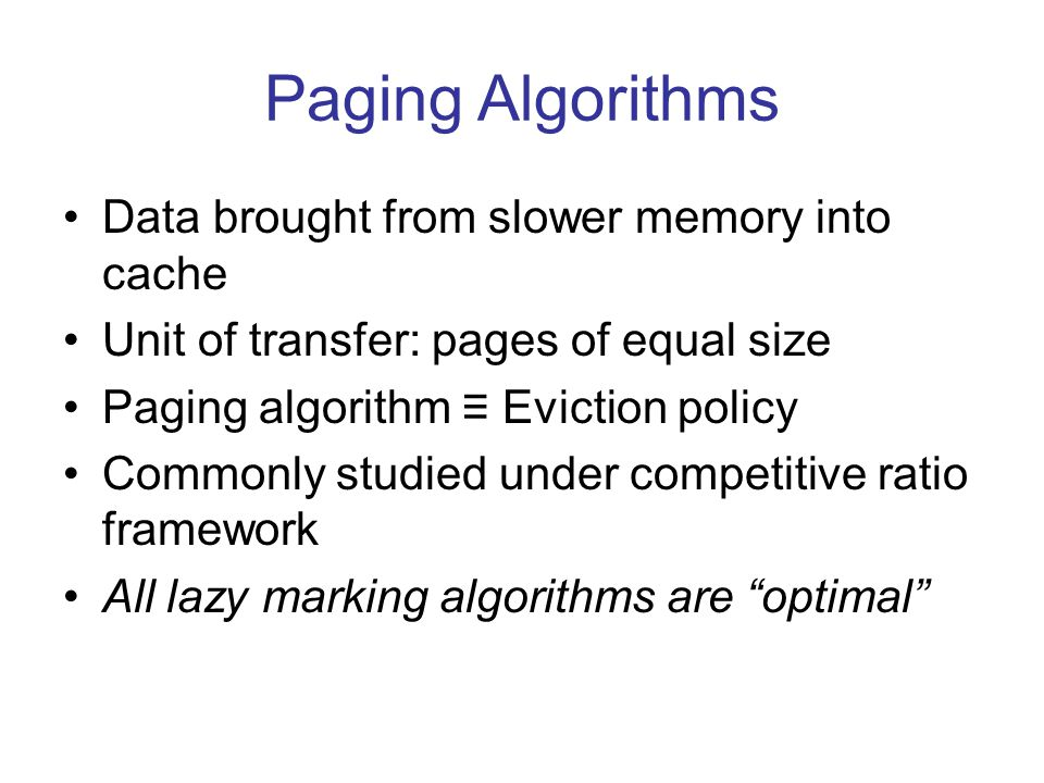 Cooperative ratio Agreement between user and algorithm about inputs which are: –likely –common –good –important