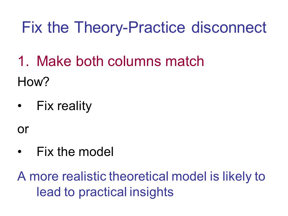 Conclusions Improved model for paging Bridged theory-practice disconnect Next talk: Unique optimality of LRU under new, more realistic model New cooperative analysis model applicable to online research