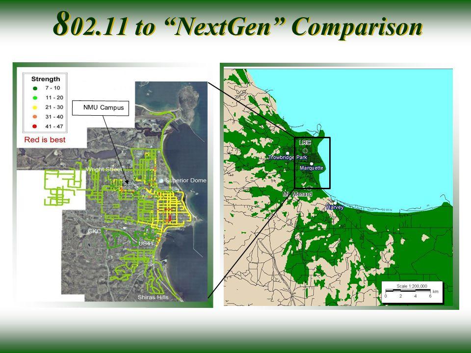 NMU Campus 8 02.11 to NextGen Comparison