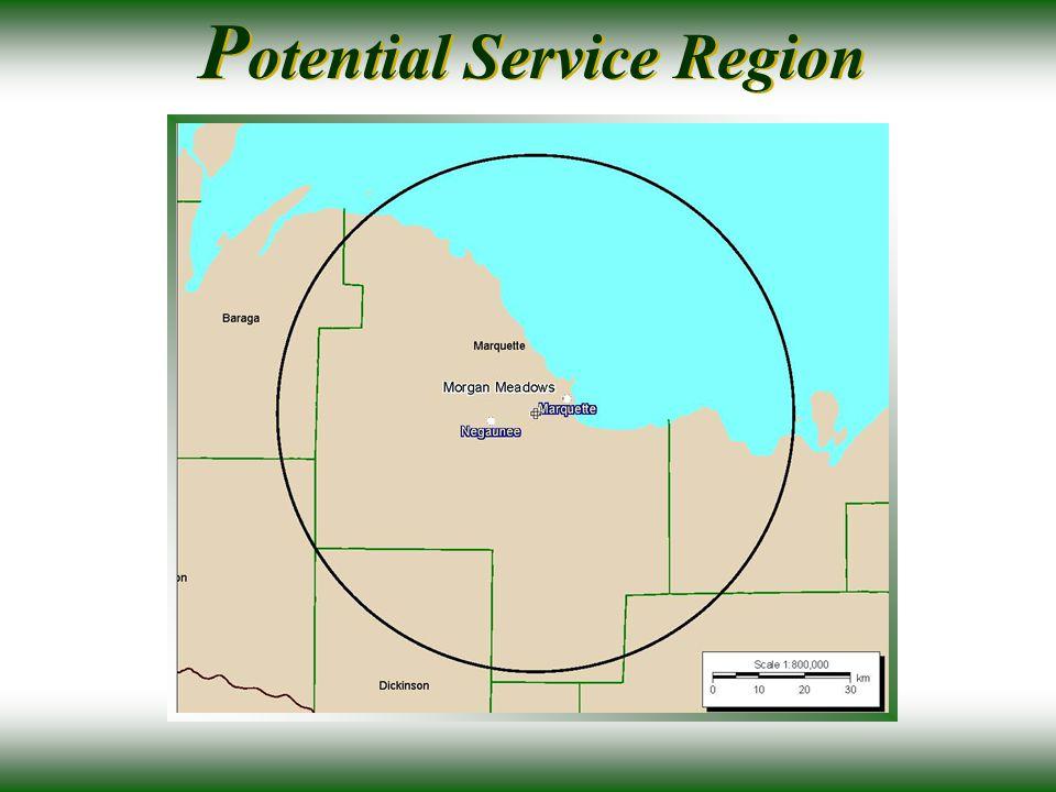 P otential Service Region