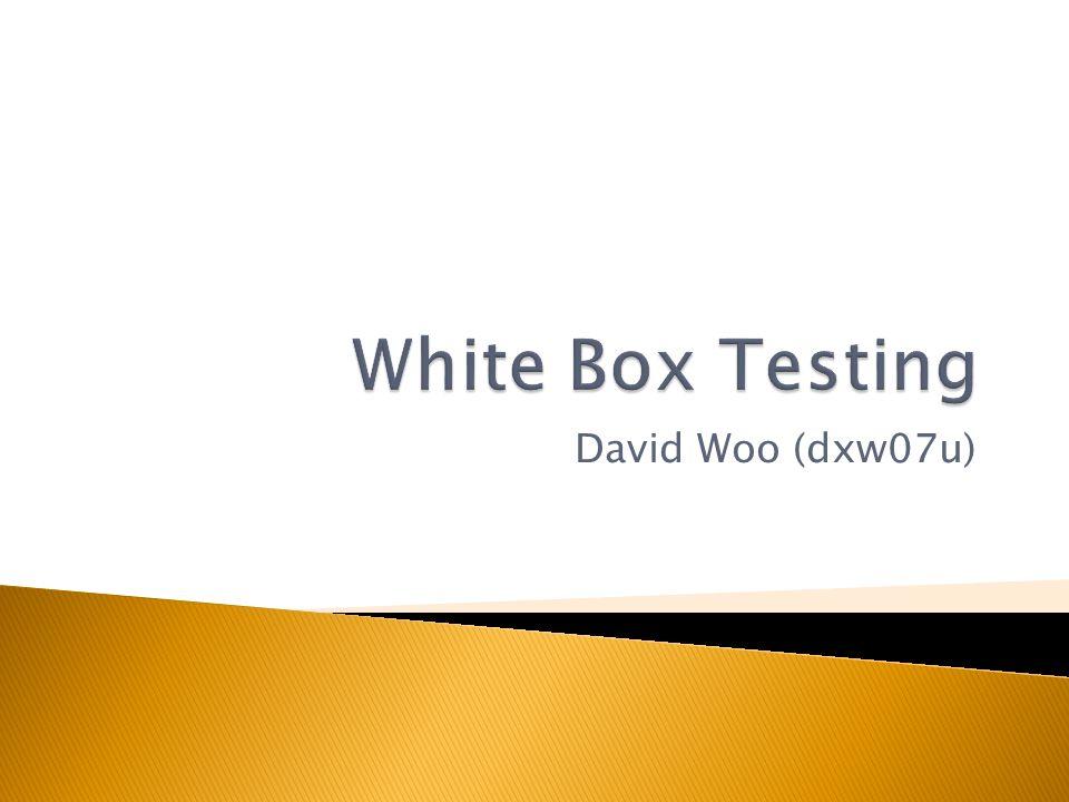 David Woo (dxw07u)