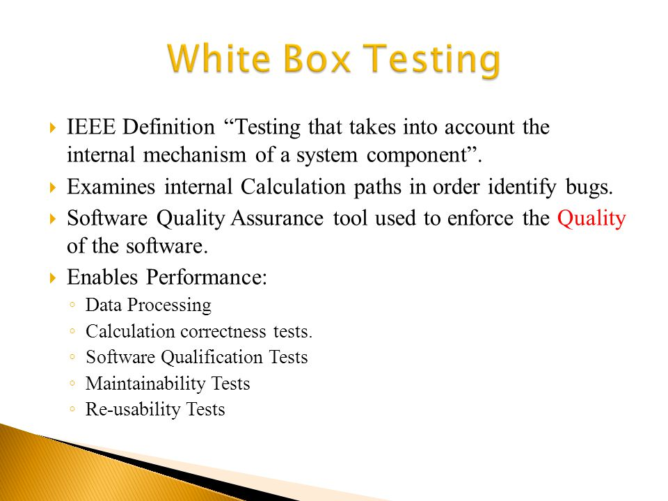 Is a procedure based on checking the data processing for each test case.