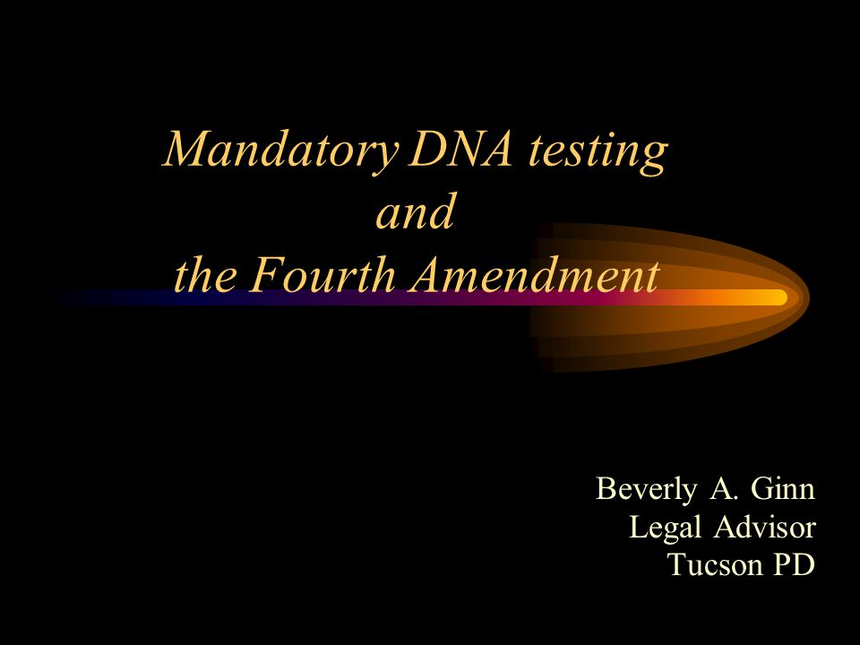 Mandatory testing statutes Currently, the federal government and each state mandate that certain convicted persons provide samples of their DNA to the government.