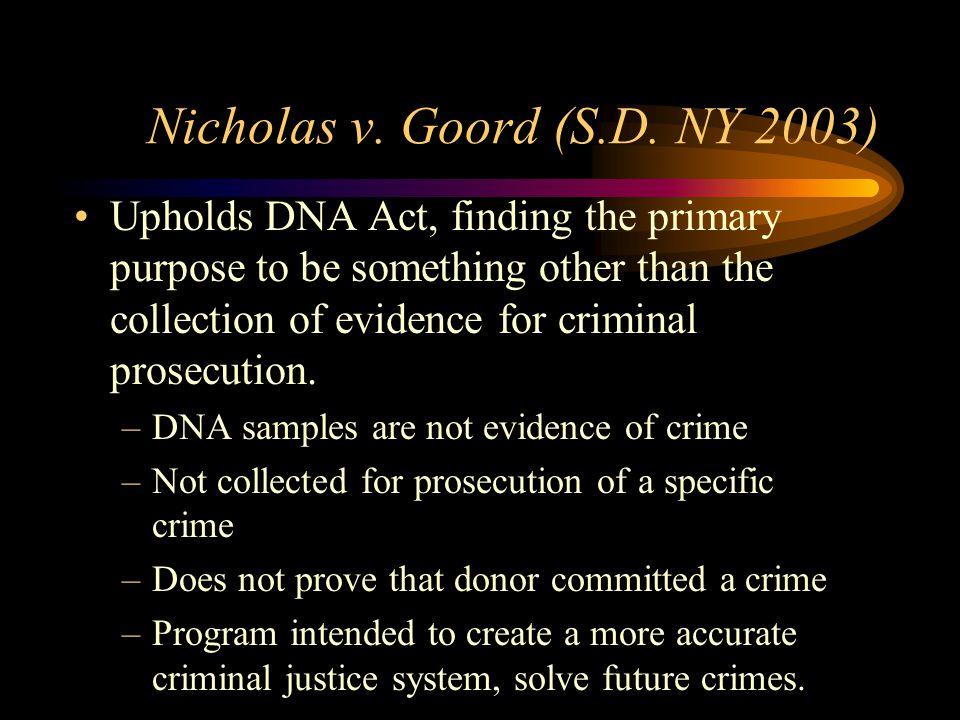 Nicholas v. Goord (S.D.