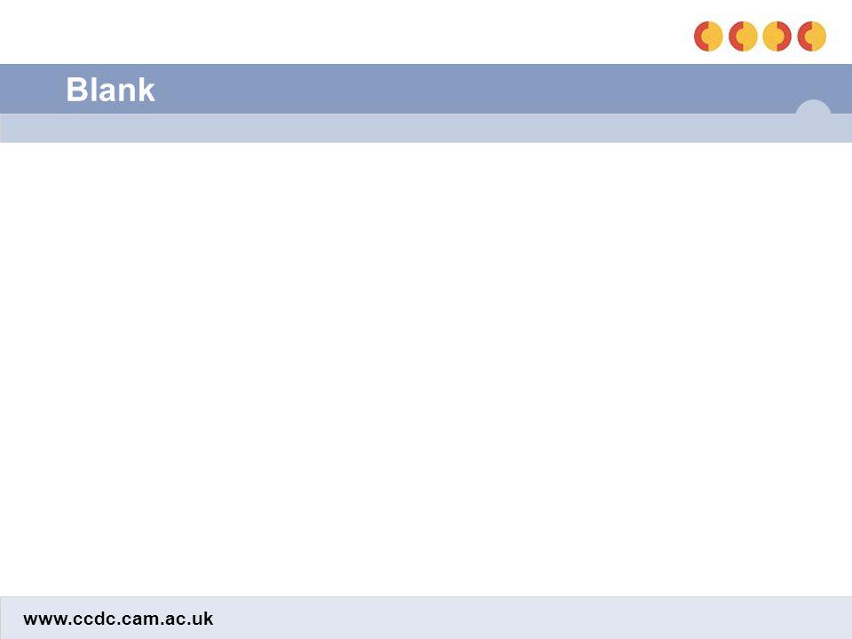 www.ccdc.cam.ac.uk Blank