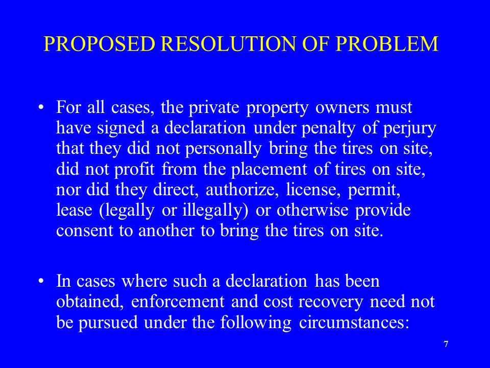 8 PROPOSED RESOLUTION OF PROBLEM (Cont'd) 1.