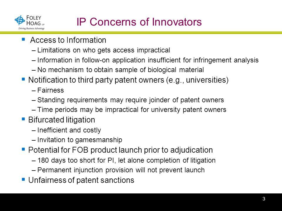 Proposed FOB Legislation Patent Provisions Donald R.